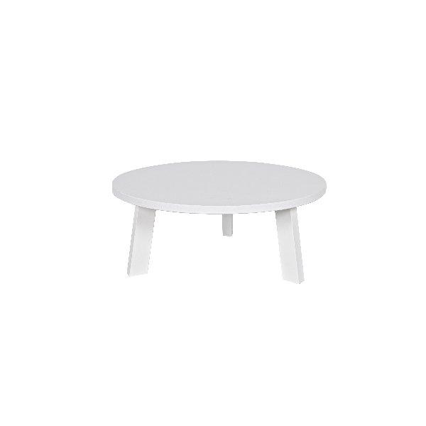 Ronde salontafel wit op drie poten