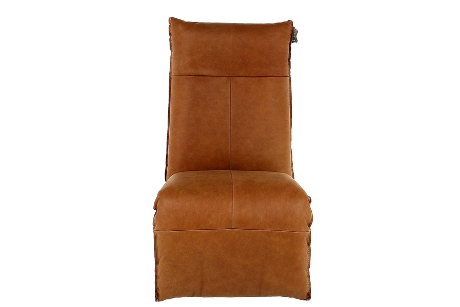 Electrische relax Tom Relaxen Industrieel Relaxen in stijl Leder Cognac maatwerk