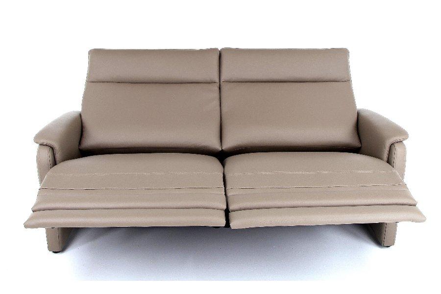 Salon Melia (2,5-zit incl 2 electrische relaxen) Salons Tijdloos Modern Relaxen in stijl Leder Taupe maatwerk