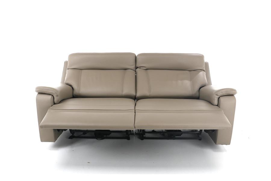Salon Raf (3-zit incl. 2 elektrisch verstelbare relaxen + 2 elektrisch verstelbare hoofdsteunen) Salons Relaxen in stijl Taupe maatwerk