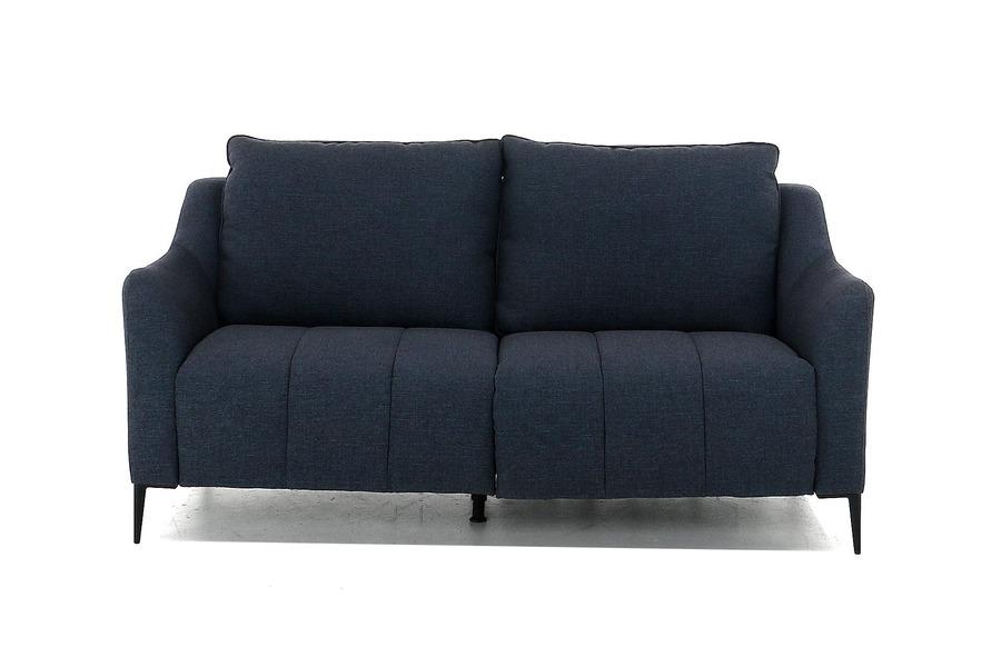 Salon Carmelo (2,5-zit inclusief 1 elektrische relax) Salons Italian Design Stof Blauw maatwerk