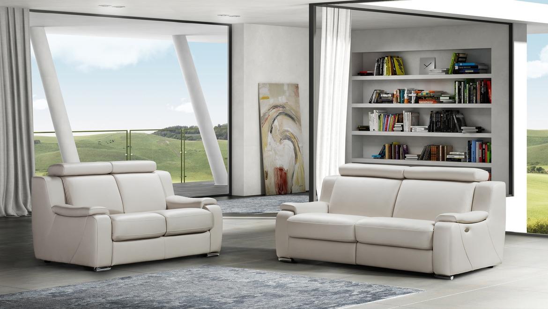 Comfortabele salon in leder met opklapbaar hoofdsteun en relax