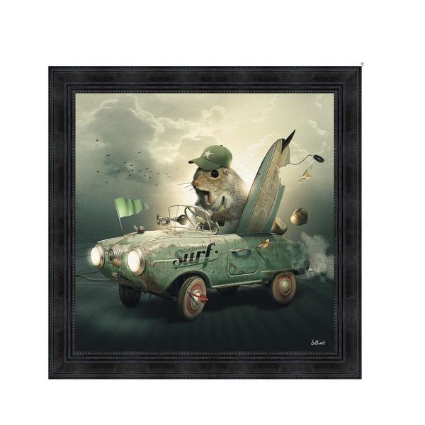 Kader Eekhoorn in auto
