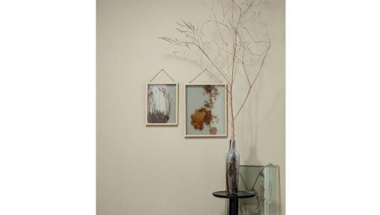 fotolijst in glas met gedroogde bloemen potpourri