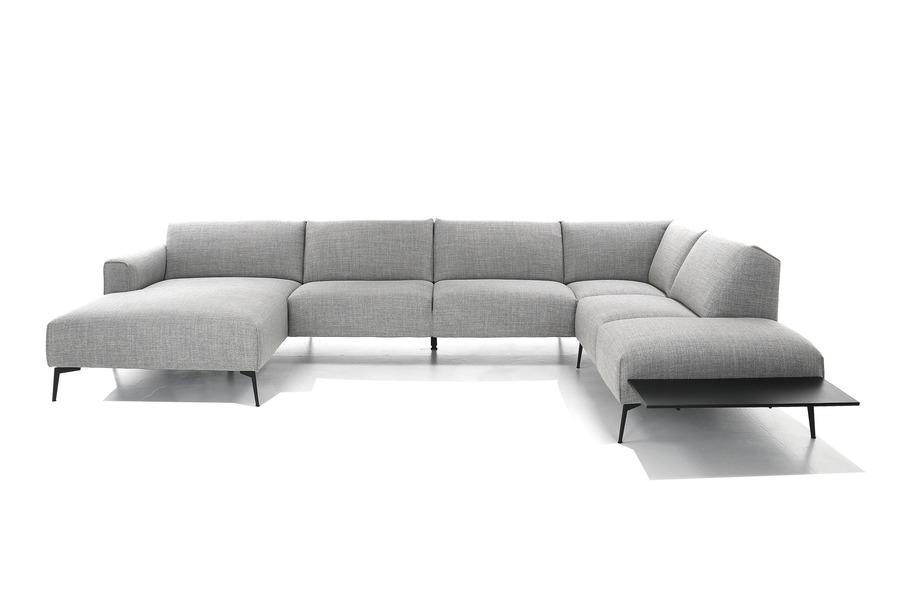 Hoeksalon Cambio Hoeksalons Scandinavische Stijl Tijdloos Modern Italian Design Stof Grijs maatwerk