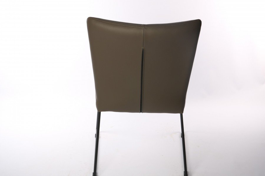 Stoel Fina (6 stuks) Stoelen Tijdloos Modern Leder Taupe maatwerk