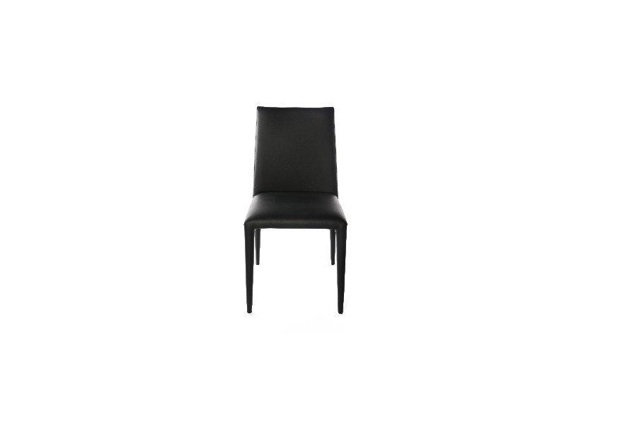 Stoel Linda Stoelen Tijdloos Modern Italian Design Leder Zwart maatwerk