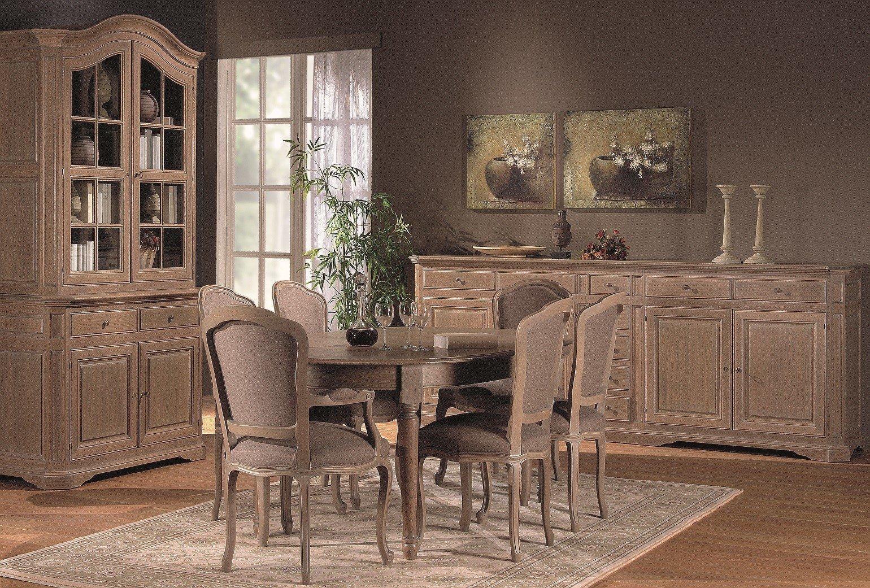 Ovale tafel verlengbaar in massief eik klassiek