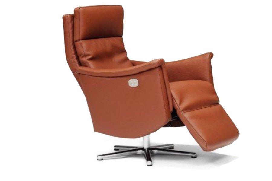 Electrische relax New York Relaxen Tijdloos Modern Relaxen in stijl Leder + draaivoet Cognac maatwerk