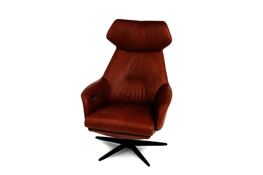 Electrische relax Arc  Relaxen Relaxen in stijl Industrieel Strak Landelijk Leder Cognac maatwerk