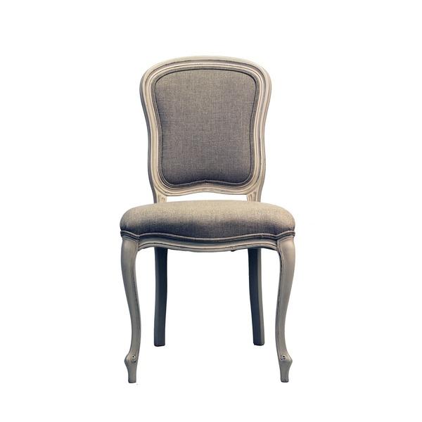 Klassieke stoel in stof op houten poten Louis XV stijl
