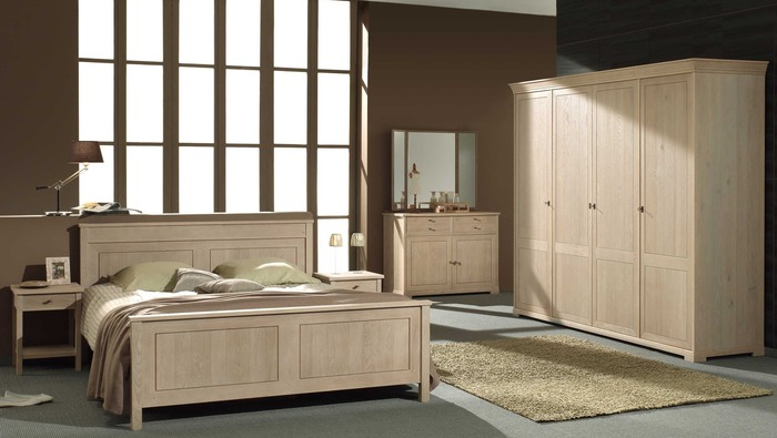 Houten bed 160 in massieve eik