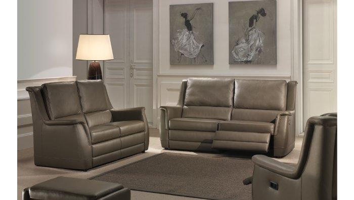 Relaxzetel in leder met lendensteun en goed zitcomfort