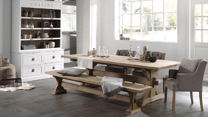 massieve houten zitbank landelijk