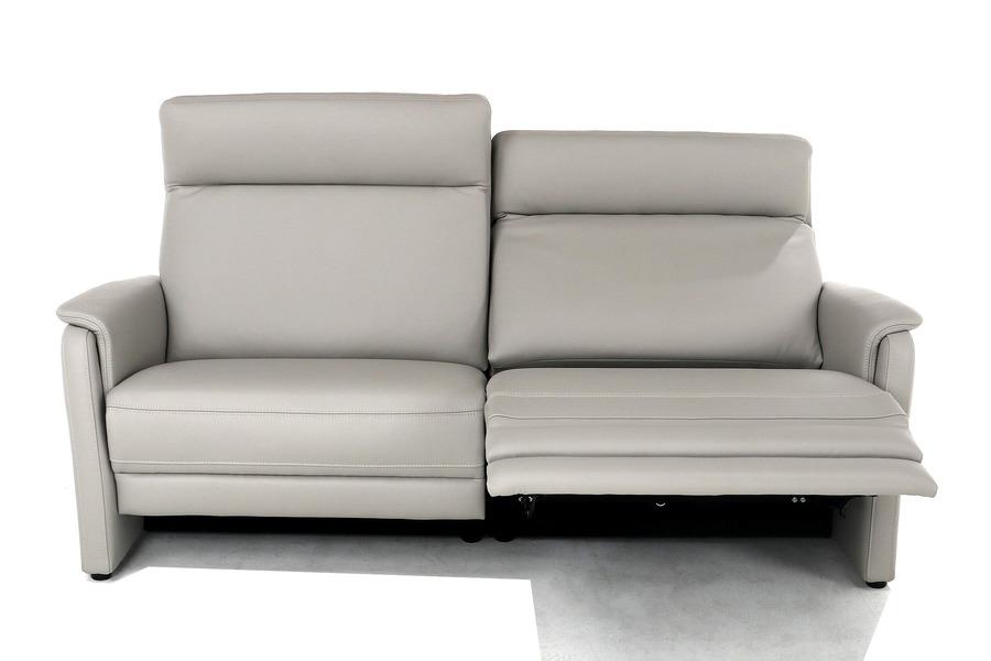 Salon Melia (3-zit incl 2 electrische relaxen) Salons Relaxen in stijl Leder Grijs maatwerk