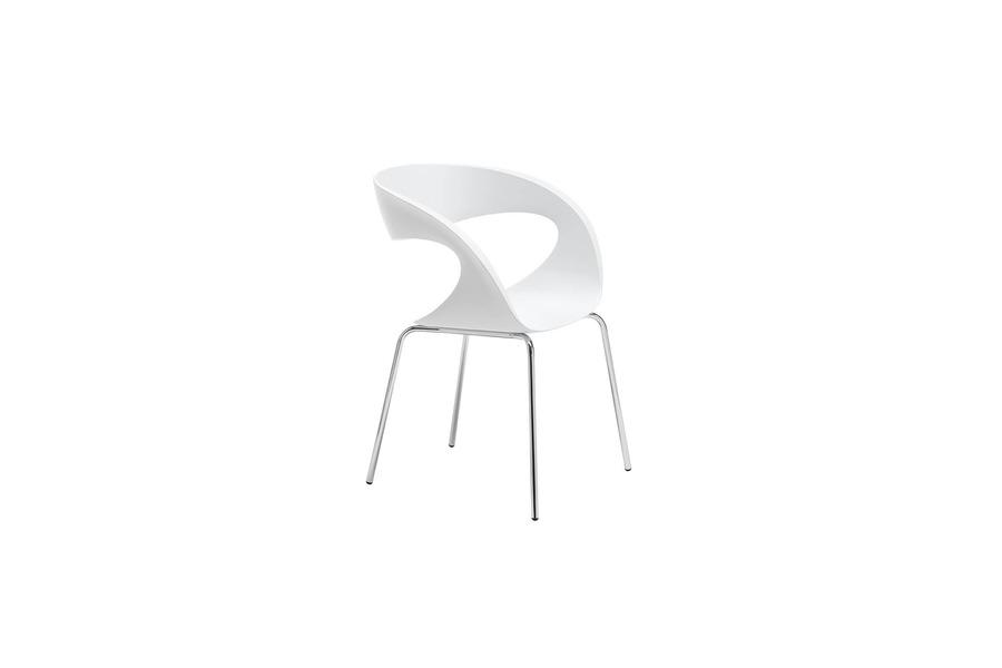 Witte Kunststof Design Stoelen.Designstoel In Wit Kunststof Meubelen Larridon