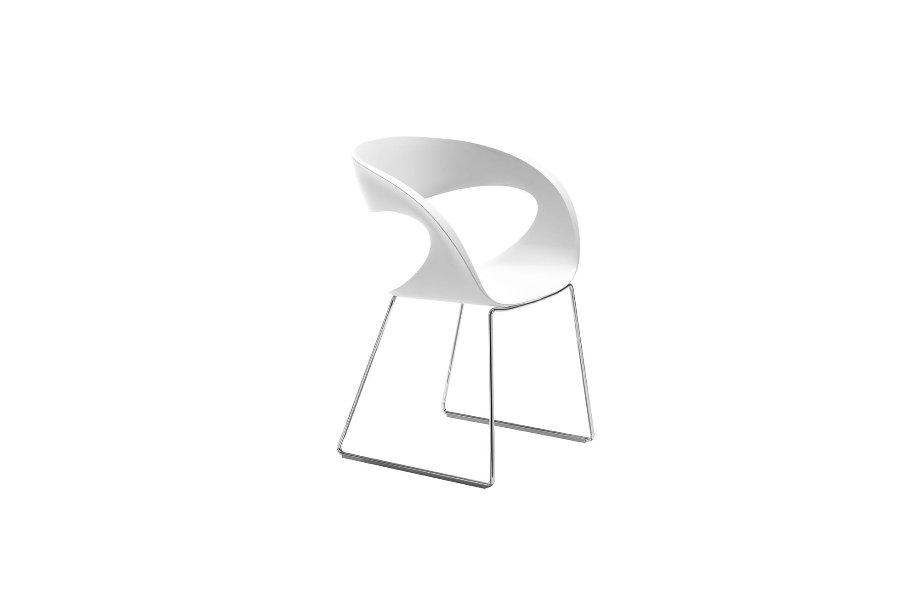 Stoel raff stoelen italian design kunststof wit maatwerk