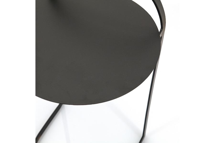 Bijzettafel Garçon Bijzettafels Scandinavische Stijl Tijdloos Modern metaal Zwart maatwerk