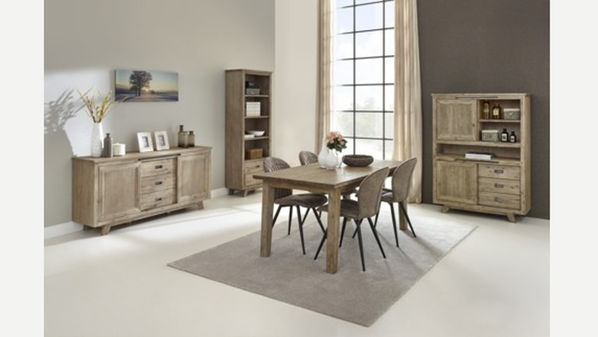 Verlengbare tafel in acacia hout