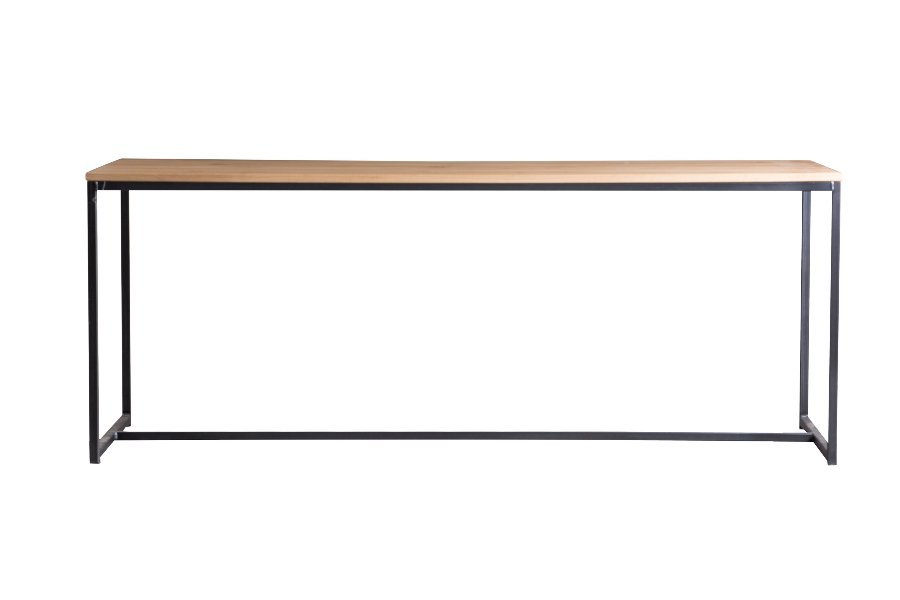 Tafel Oaker Tafels Industrieel Blad massief eik / onderstel metaal Naturel maatwerk