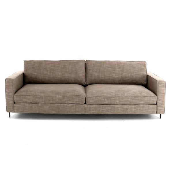 4-zit canapé in grove stof in strak landelijke stijl