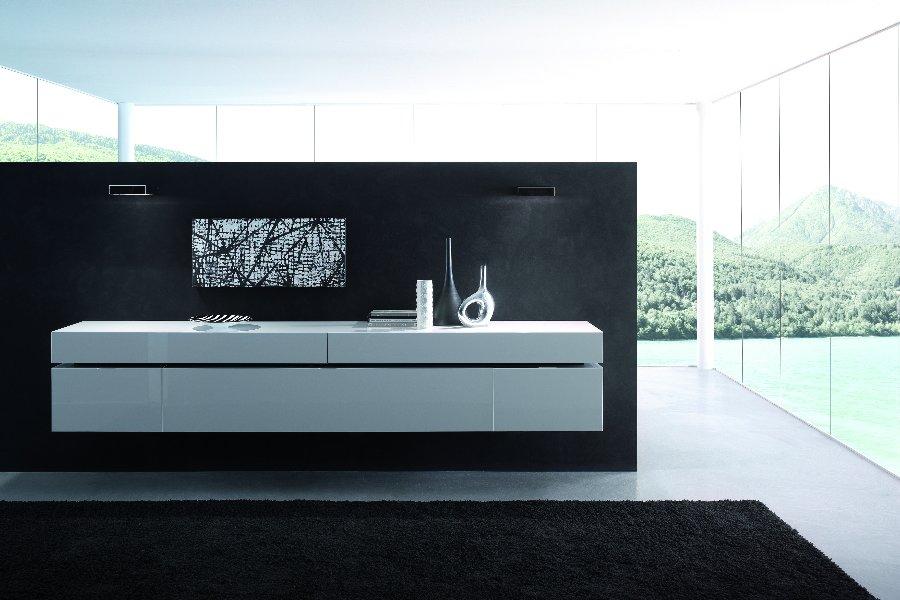 Hangdressoir Lounge  Dressoirs Italian Design Lak hoogglans Wit maatwerk - Toonzaal Meubelen Larridon