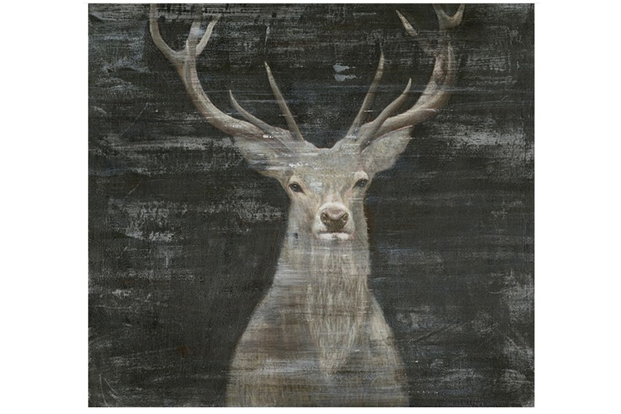 Schilderij hert Accessoires Brut Landelijk Strak Landelijk Zwart maatwerk