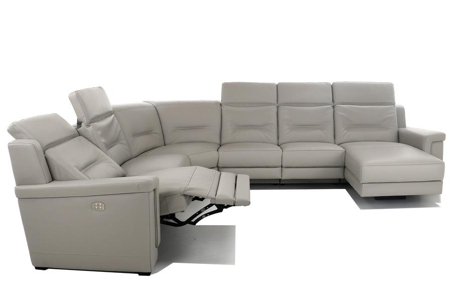 Hoeksalon Xilo Hoeksalons Relaxen in stijl Tijdloos Modern Leder Grijs maatwerk