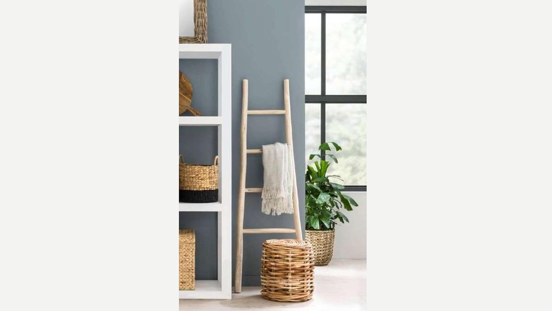 Ladder in hout als decoratie
