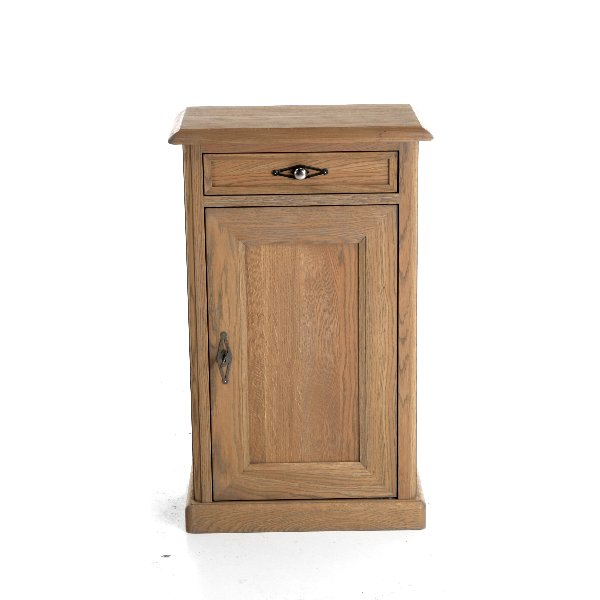 Klein kastje met deur en lade in hout