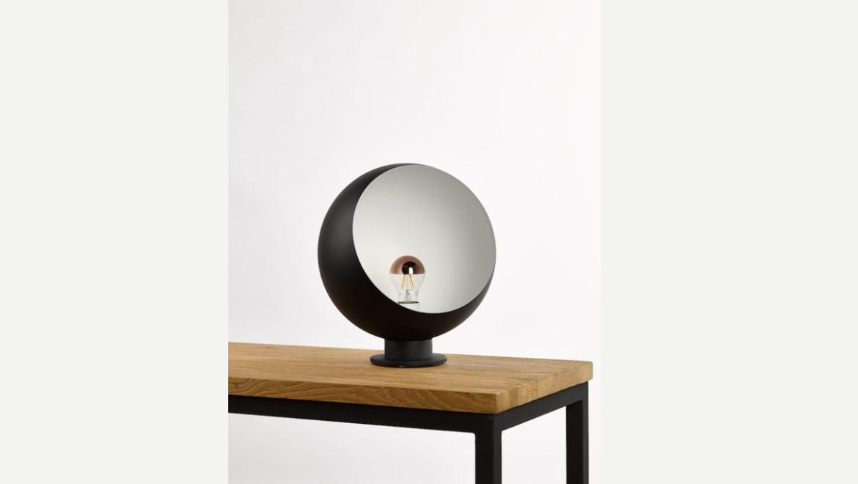 Bolvormige design lamp zwart en wit