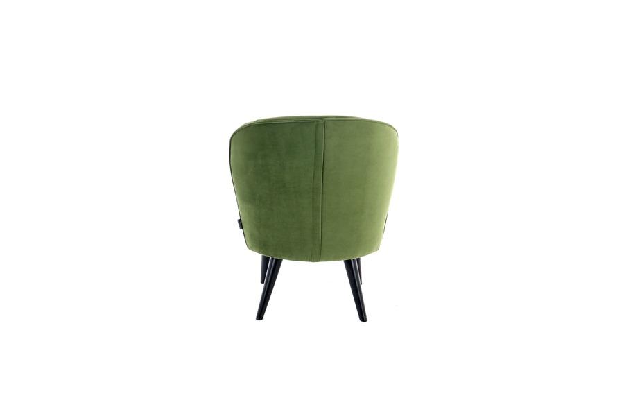 Loungezetel Dana Zetels Strak Landelijk Scandinavische Stijl Industrieel Italian Design Stof Groen maatwerk