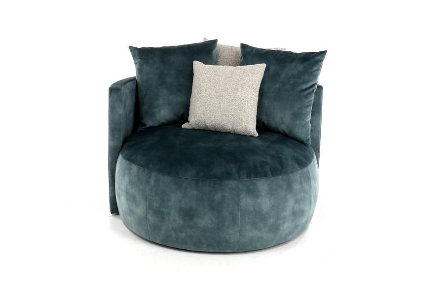 Lounge zetel Pastille Zetels Brut Landelijk Strak Landelijk Industrieel Stof Blauw maatwerk