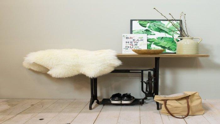 Tafel op naaimachine onderstel