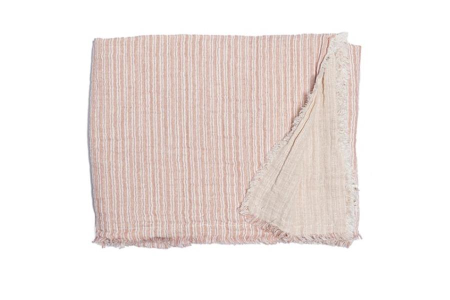 Plaid streep roze Accessoires Brut Landelijk Scandinavische Stijl Tijdloos Modern Slapen maatwerk