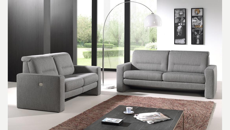 Salon in leder open model met opklapbaar hoofdsteun en relax