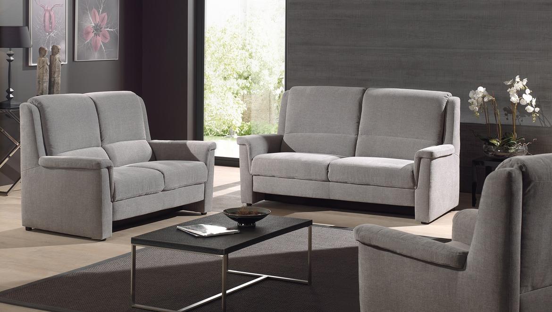 Comfortabele elektrische relax in grijze stof met goede rugsteun