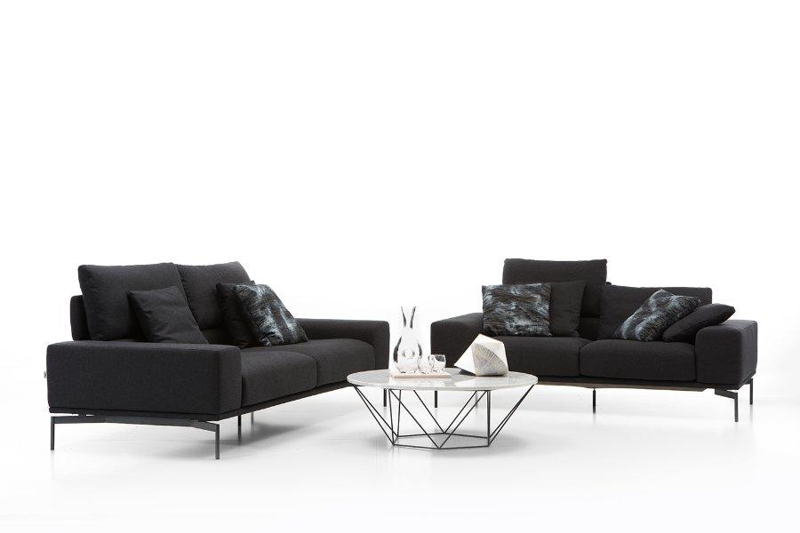 Hoeksalon Topaz Salons Italian Design Stof Grijs maatwerk - Toonzaal Meubelen Larridon