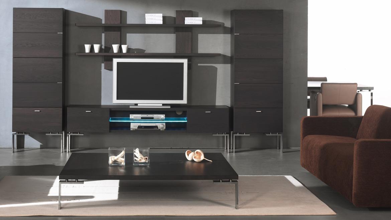 Zwarte salontafel rechthoekig op metalen poten