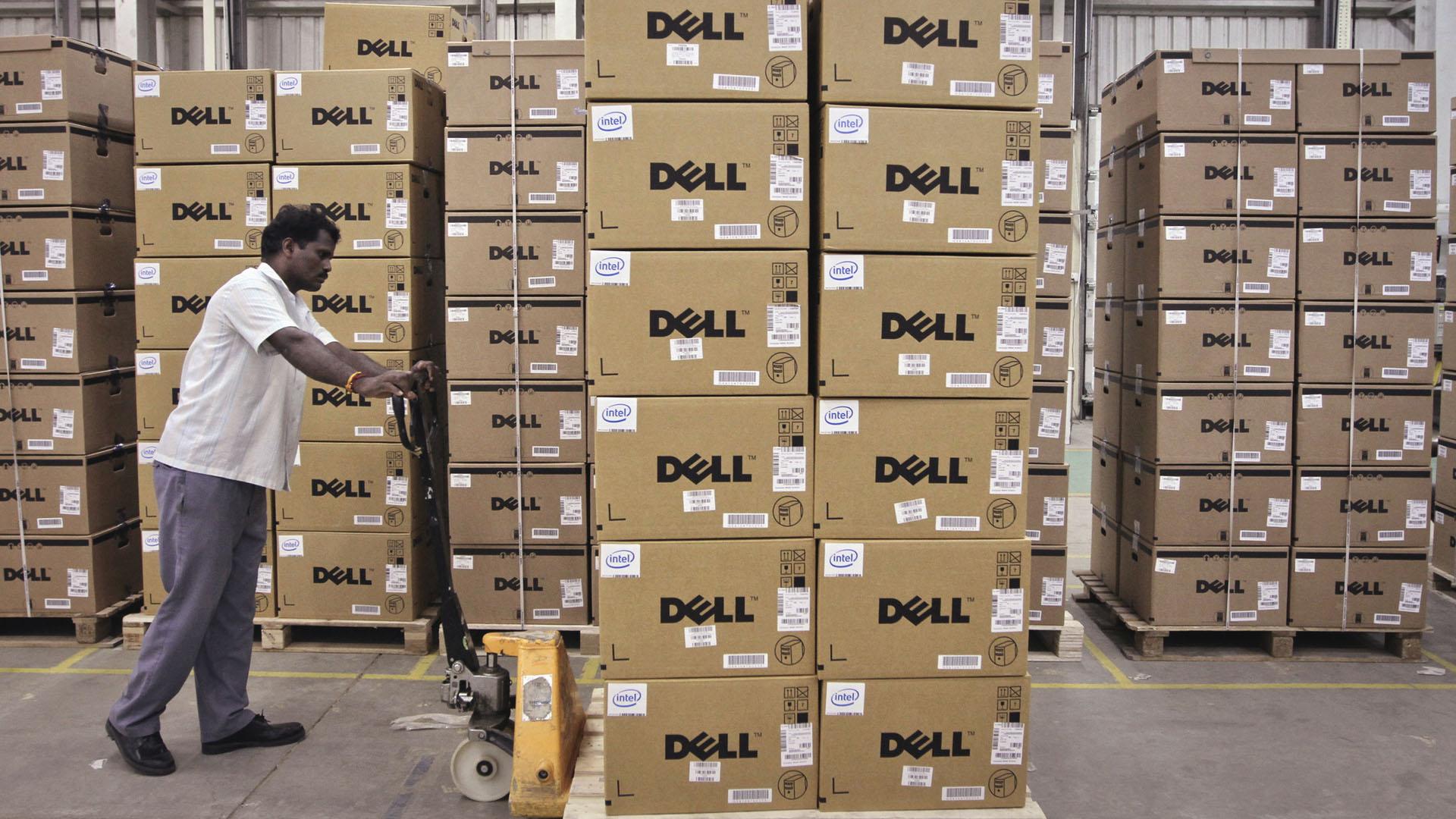 Imagem de galpão da Dell