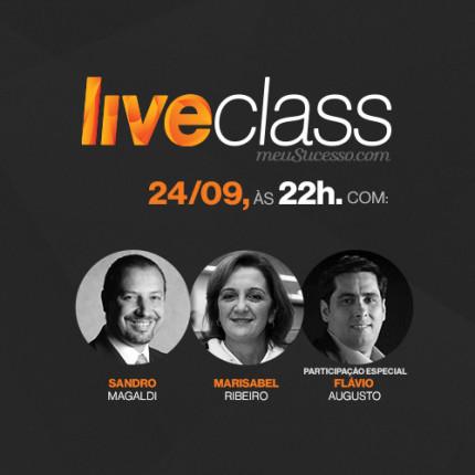 "LiveClass terá como tema ""O segredo dos líderes de sucesso"""