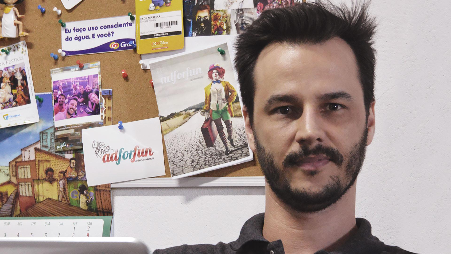 O aluno Cadu Ferreira faz parcerias por meio da rede social da plataforma