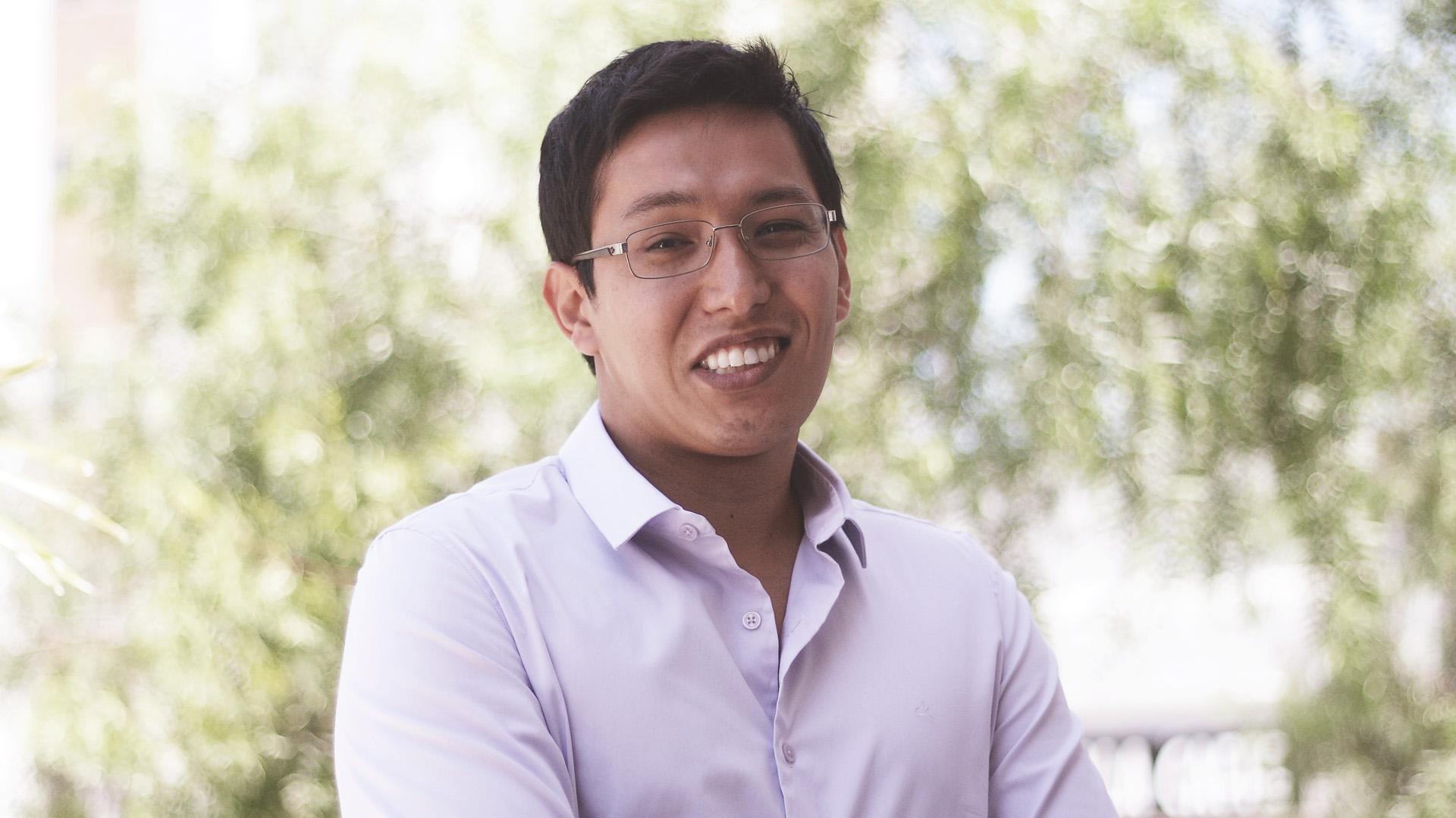 O aluno Fernando Shine busca aperfeiçoamento na plataforma