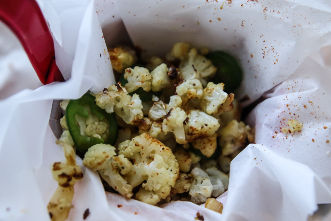 Super Bowl Super Snacks (Part 1): Jalapeno Chili Cauliflower Popcorn