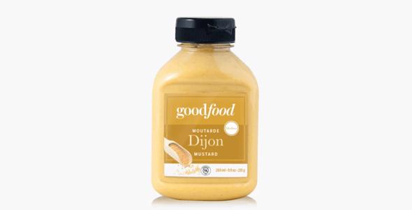 Bottle of Goodfood dijon mustard