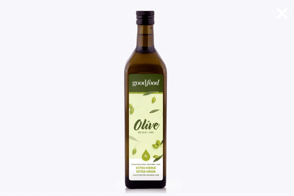Bottle of Goodfood extra virgin olive oil