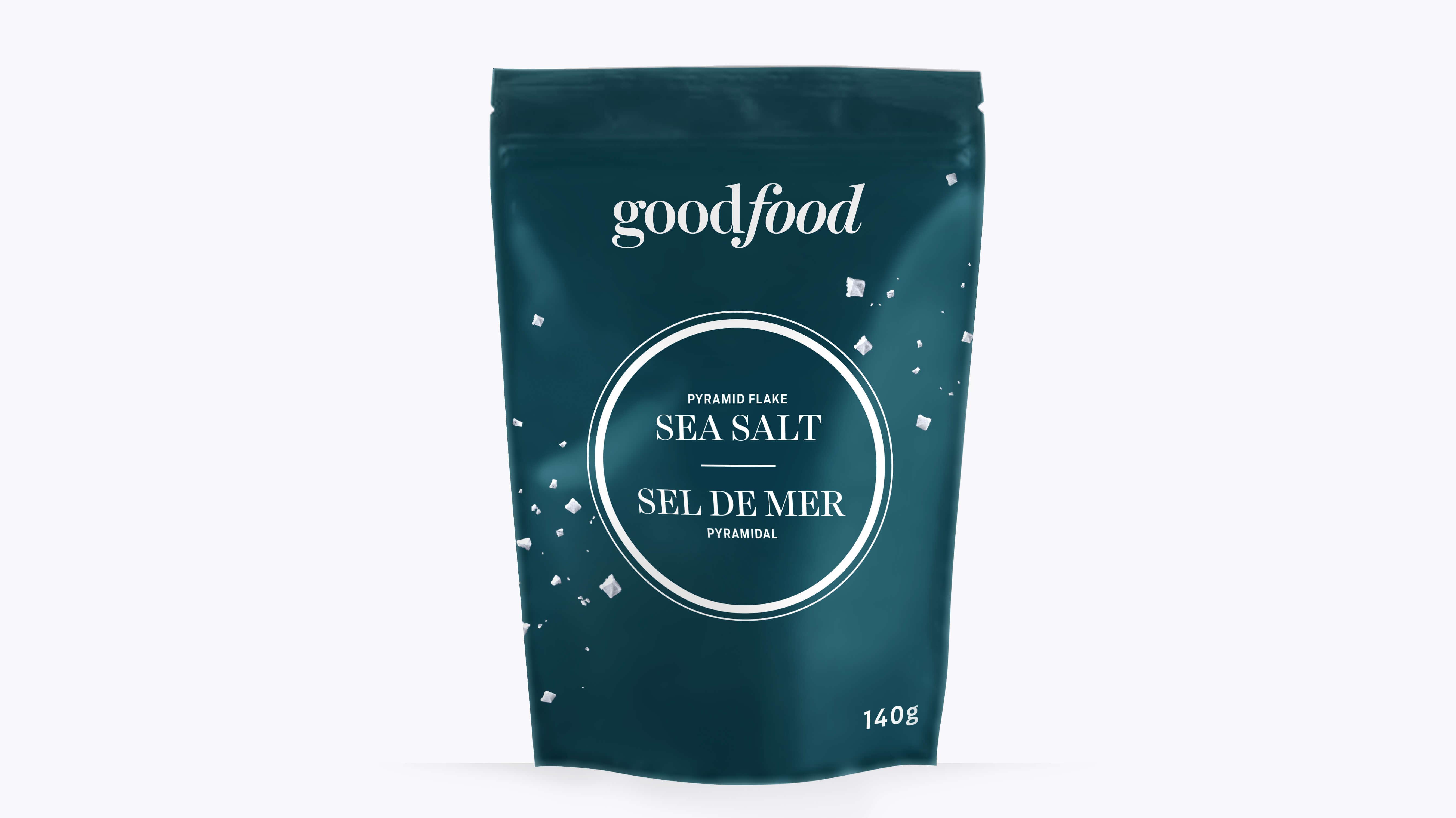 A bag of Goodfood sea salt