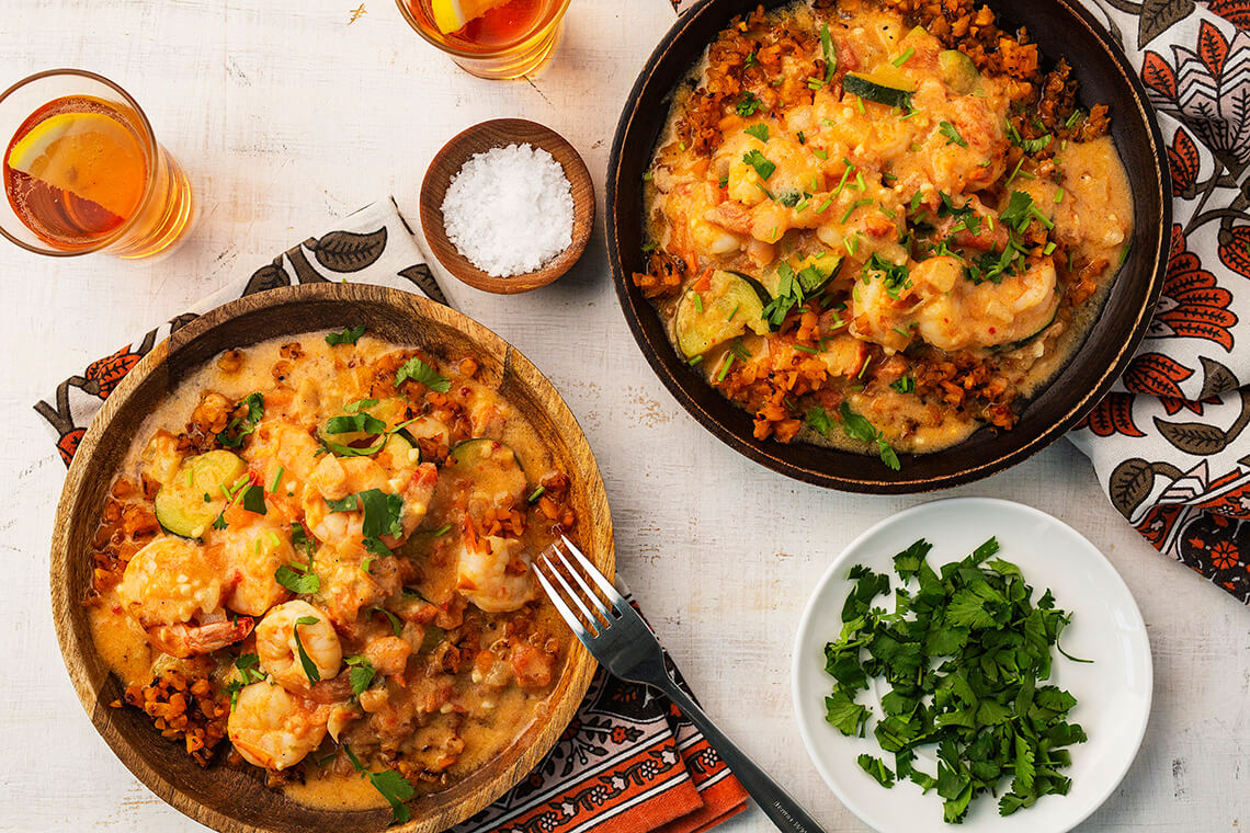 Brazilian Shrimp Moqueca with Butternut Squash 'Rice'