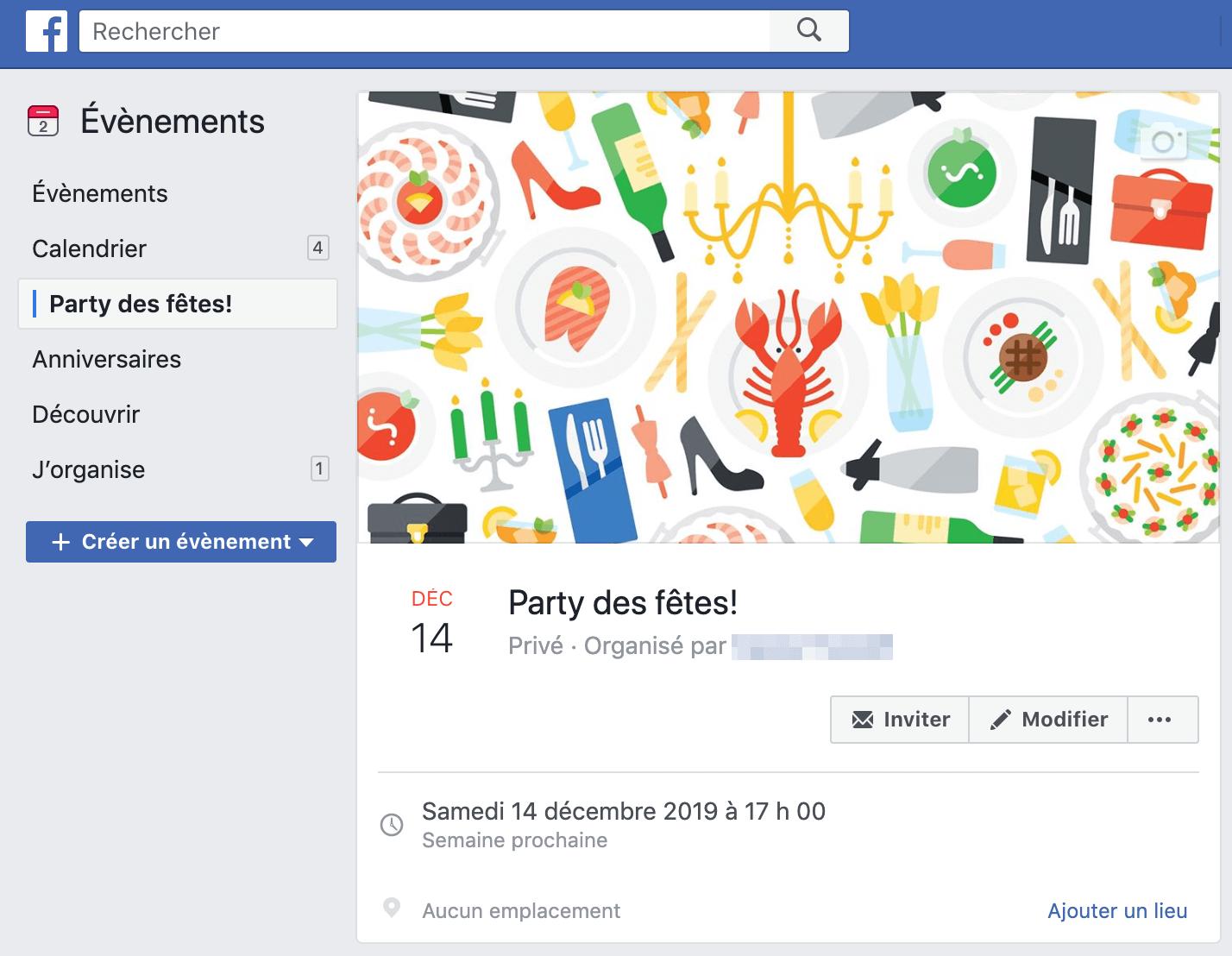 example evenement Facebook