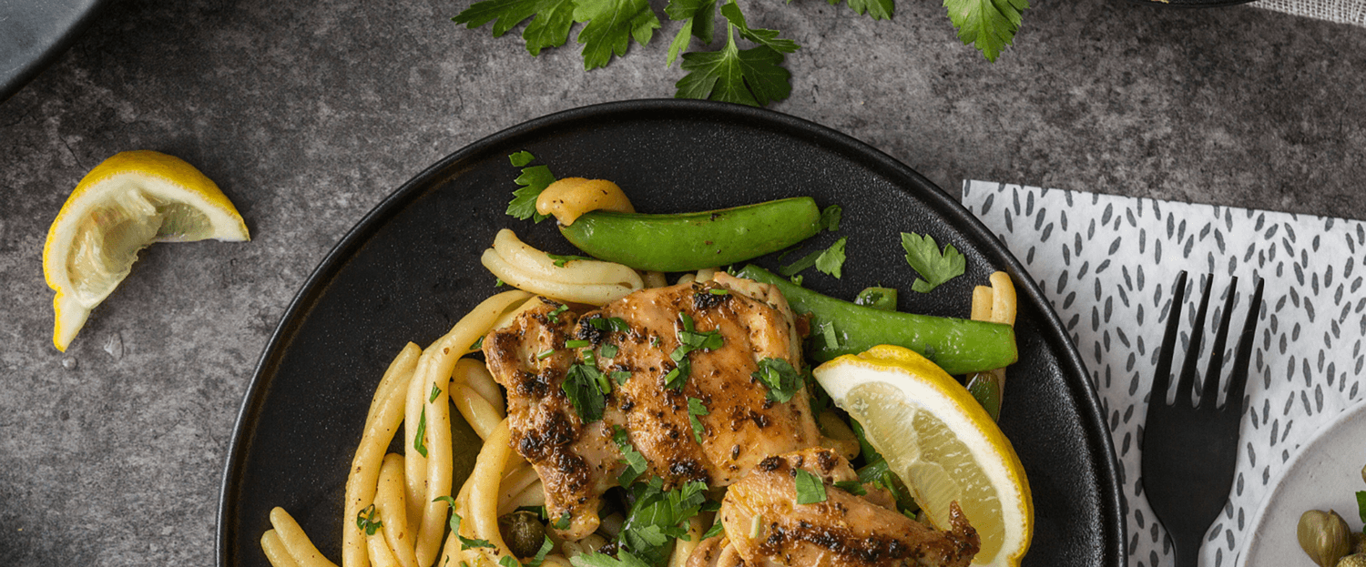 Chicken Piccata plate